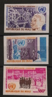 Mali - 1978 - N°Yv. 297 à 299 - Apartheid - Non Dentelé / Imperf. - Neuf Luxe ** / MNH / Postfrisch - Mali (1959-...)