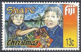 Fiji, 1999 Christmas, Giving Gifts, 13c Multi # S.G. 1068 - Michel 336 - Scott 898  USED - Fiji (1970-...)