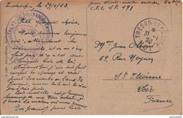 FRANCE CP CACHET TRESOR ET POSTE N°191 21 E RGT TIRAILLEURS TUNISIENS ARMEE FRANCAISE DU RHIN - Guerre 1914-18