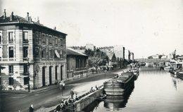 76  PARIS 19e AR   LE CANAL DE L'OURCQ  (CPSM FORMAT CPA) - Paris (19)