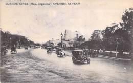 ARGENTINA Argentine - BUENOS AIRES : Avenida Alvear (Coches En Primer Plano ) - CPA  - Argentinien Argentinië - Argentine