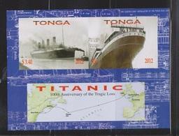 TONGA Scott # 1179 MNH - 100th Anniversary Of Titanic Sinking Souvenir Sheet - Tonga (1970-...)