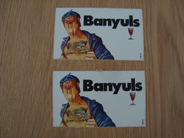 LOT DE 2 AUTOCOLLANTS BANYULS - Adesivi