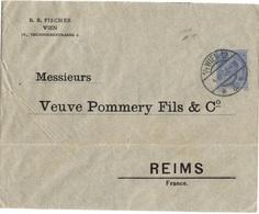 AUTRICHE ENTIER LETTRE OBLITERE POUR LA FRANCE REPIQUAGE PRIVE THEME VINS CHAMPAGNE - 1850-1918 Empire