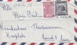 Venezuela Por Avion CARACAS 1958 Cover Letra Krankenhaus Hospital THEODOSIAMM In ZÜRICH Suisse - Venezuela