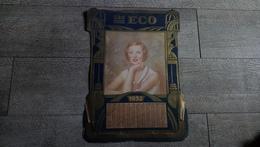 Calendrier 1932 Porte Courrier Les Eco Complet Publicité Mode - Calendriers