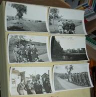 Lot De 6 Photographies Du Corps Franc Pommiès  Défilé Bonnevent   Octobre 1944 - Guerre, Militaire