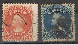 (XIL 185) CHILE // YVERT 13, 14 //  1867 - Chile