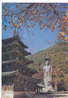 CPM KOREA Buddhist Monks At The Palsang Jeon Pailion At Beobju-sa Temple - Corée Du Sud