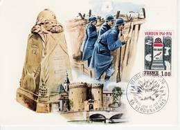 France, Carte Max FDC Verdun,  Carte Max Timbre 1883 YT, Cachet 12 Juin 1976 Verdun - Maximumkarten