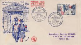 Enveloppe  FDC  1er  Jour    FRANCE   Ecole  De  SAINT  CYR   COËTQUIDAN  1954 - 1950-1959