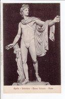 Cpa Carte Postale Ancienne  - Apollo Belvedere Museo Vaticano Roma - Sculture