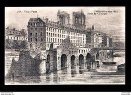 CPA. PARIS - Notre Dame De Paris Et L'Hôtel Dieu Vers 1855. Superbe - History