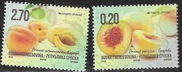 BOSNIA SERB,  2018, MNH,FRUITS, PEACHES, APRICOTS,2v - Fruits