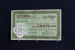 5 / Italie / 1946: Royaume / Biglietti - L'Iccrea, Spa Roma, 8/2/77 - 100 Lire - Cento Lire - [ 2] 1946-… : République