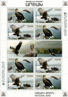 Armenia (Artsakh). 2019  EUROPA CEPT, National Bird,Eagle. M/S Of 8 + Label - Armenia