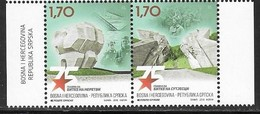 BOSNIA SERB,  2018, MNH,WWII, 75th ANNIVERSARY OF BATTLES AT SUTJESKA AND NERETVA, SOLDIERS, 2v - Guerre Mondiale (Seconde)