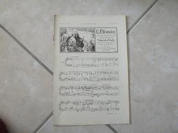 L'Étranger & Madrigal -(Musique Vincent D'Indy)- Partition (Piano) - Instruments à Clavier
