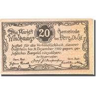 Billet, Autriche, Perg, 20 Heller, Village, 1920, 1920-12-31, SUP, Mehl:FS 1243I - Autriche