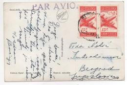 Postcard Baalbeck  Sent From Beyrouth Lebanon To Yougoslavia , Liban Libano Stamp - Lebanon