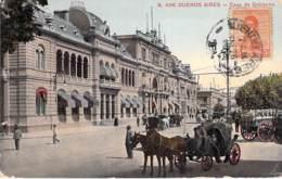 ARGENTINA Argentine - BUENOS AIRES : Casa De Gobierno ( Buena Animación - Aparejos De Caballos ) Jolie CPA Colorisée - - Argentine