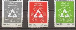 Waste Sorting 2019 3 MNH Stamps Lebanon Recycling, Liban Libanon - Lebanon