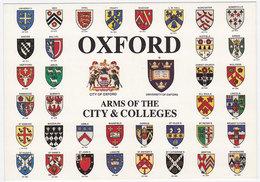Carte Postale Moderne Non écrite Royaume-Uni - Oxford, Armoiries - Schools
