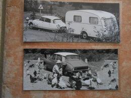 2 Repro  Cartonnées Et Plastifiées  CITROEN DS Avec Caravanne 1969/1970  + DS 1959 Avec Poules - Automobiles