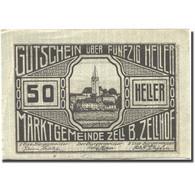 Billet, Autriche, Zell B. Zellhof, 50 Heller, Village, 1920 SUP Mehl:FS1274a - Autriche