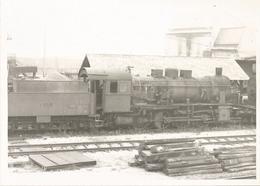 Grande Photo- Locomotive - Train En Gare De Strasbourg Hausbergen - Trains