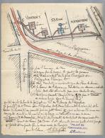 Croquis D'architecte Pour Le Lavoir Croizard - Fontainebleau - 1904 - Direction Des Beaux Arts - Architecture