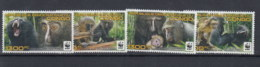 Kongo Republik Michel Cat.No.  Mnh/** 2132/2135 Wwf Monkey - Nuevos