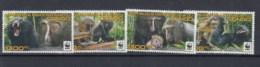Kongo Republik Michel Cat.No.  Mnh/** 2132/2135 Wwf Monkey - Dem. Republik Kongo (1997 - ...)