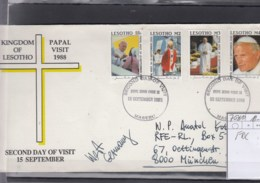 Lesotho Michel Cat.No.  FDC 707/710 Pope Paul - Lesotho (1966-...)