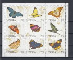Liberia Michel Cat.No.   Mnh/** Sheet 1660/1668 Butterfly - Liberia