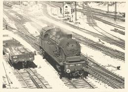 Grande Photo- Chemin De Fer  -  Locomotive En Gros Plan - Mulhouse En 1957 - Trains
