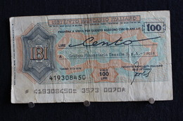 10 / Italie / 1946: Royaume / Biglietti Di Stato - L'Istituto Bancario Italiano Torino 6/12/1976 - Vale 100 Lire - - [ 2] 1946-… : Repubblica