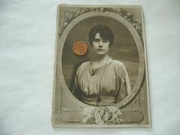 CDV VICTORIAN FOTO RITRATTO DONNA LADY MILADY ABITO D'EPOCA MANTOVA 1918 - Foto