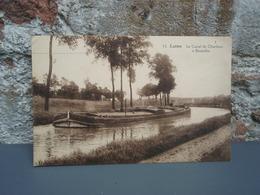 Cpa Luttre Le Canal De Charleroi à Bruxelles. Pêniche - Pont-a-Celles