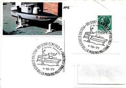 ITALIA - 1977 BOLOGNA Mostra Storica Marina Militare (Aliscafo Lanciamissili SPARVIERO P420) - Militaria