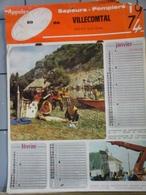 Calendrier  1974 Des Sapeurs Pompiers De Villecomtal Arros Et De Condom Dans Le Gers - Autres