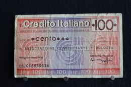 14 / Italie / 1946: Royaume / Credito Italiano Bologna  9/3/1976 - Vale 100 Lire - - [ 2] 1946-… : Repubblica