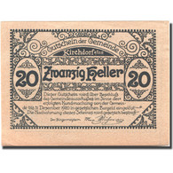 Billet, Autriche, Kirchdorf A/Inn, 20 Heller, Eglise, 1920 SPL Mehl:FS 444c - Autriche