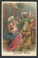 +++ CPA - Carte Fantaisie - Joyeux NOEL - Embossed Relief Gaufrée - Christmas   // - Natale