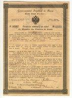 Rente Russe 4% - 23.000 Roubles + Récépissé Nomintif De Dépôt - Actions & Titres