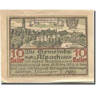 Billet, Autriche, Aspach, 10 Heller, Château 1920-03-25, SUP Mehl:FS 57a - Autriche