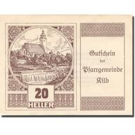 Billet, Autriche, Kilb, 20 Heller, Eglise, 1921, 1921-12-31, SPL, Mehl:FS 436 - Autriche