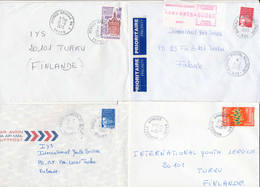 France 1973-91  4 Covers To Finland, Poste Aux Armees - Frankreich