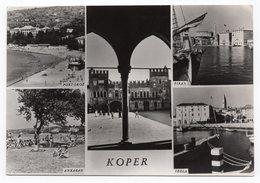 1960 YUGOSLAVIA, SLOVENIA, KOPER, SLOVENIAN RIVIERA, COAST, POSTMARK ANKARAN, USED ILLUSTRATED POSTCARD - Yugoslavia