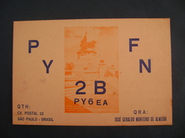 "BRAZIL - AMATEUR RADIO CARDS ""PY2BFN"" - SAO PAULO 1956 IN THE STATE - Radio Amateur"